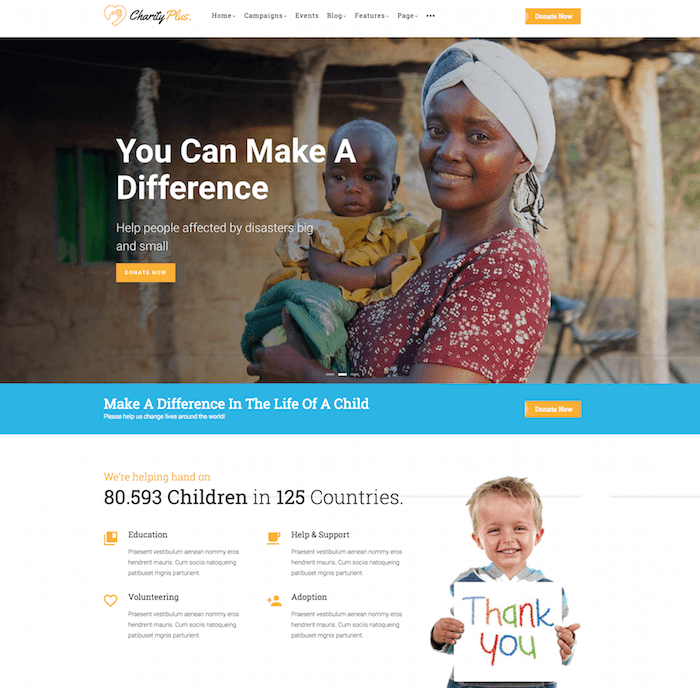 Charity Plus drupal theme