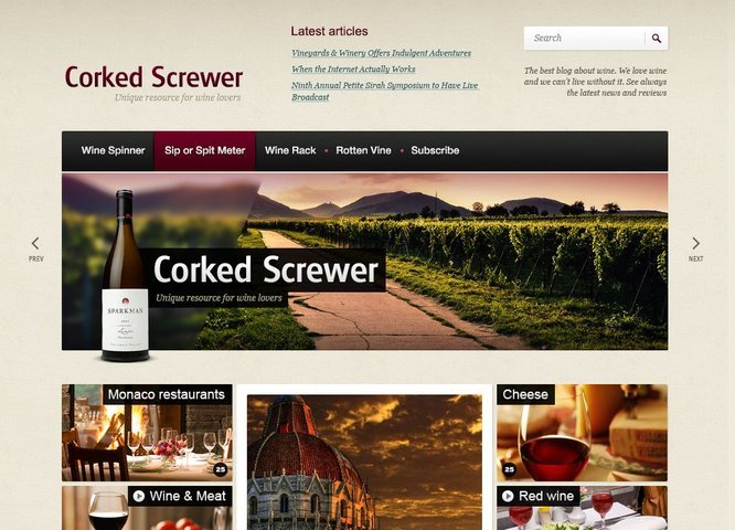 Corked Screwer Drupal Theme