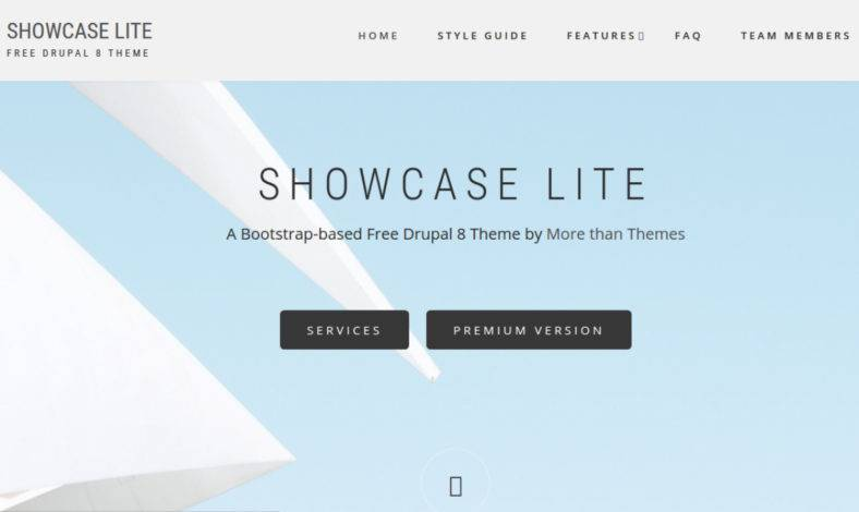 Showcase Lite Drupal Theme