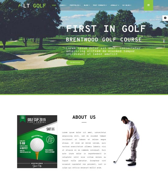 LT golf Joomla theme
