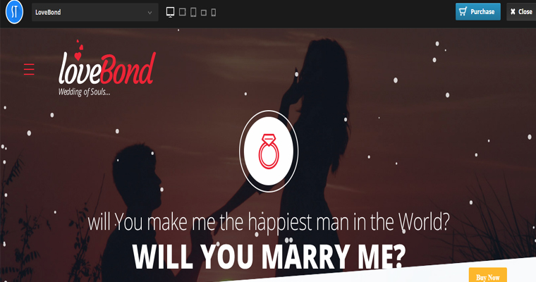 Lovebond Lite WordPress Theme