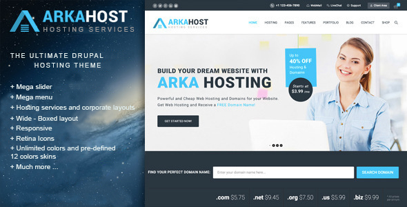 Arka Host Drupal Theme