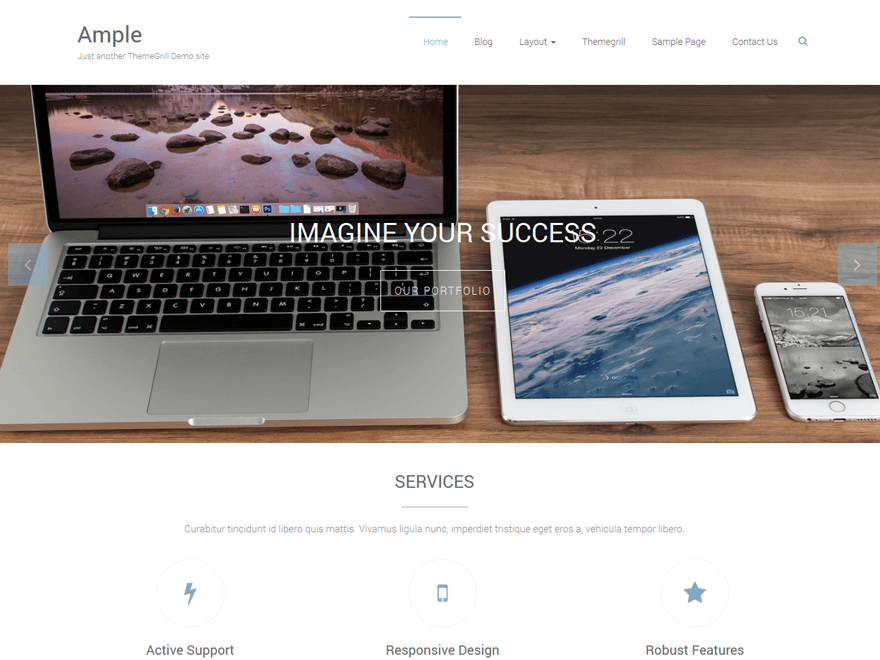 ample wordpress theme