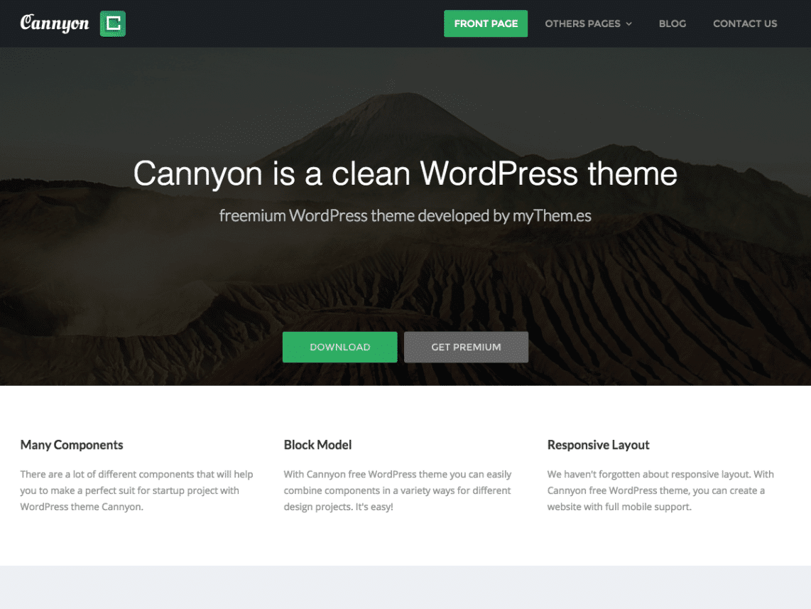 cannyon wordpress theme