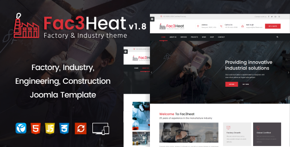 fac3heat joomla theme