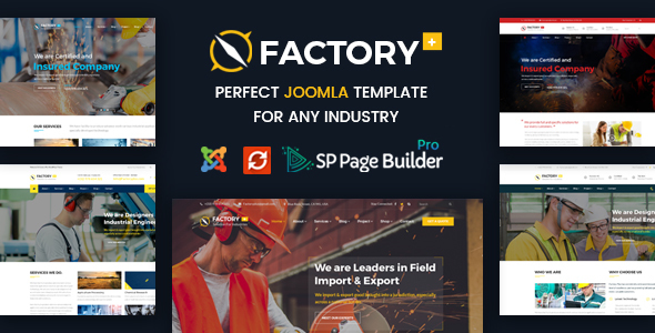 factory plus joomla theme