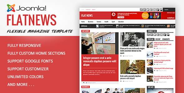 flatnews joomla theme