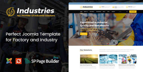 industries joomla theme
