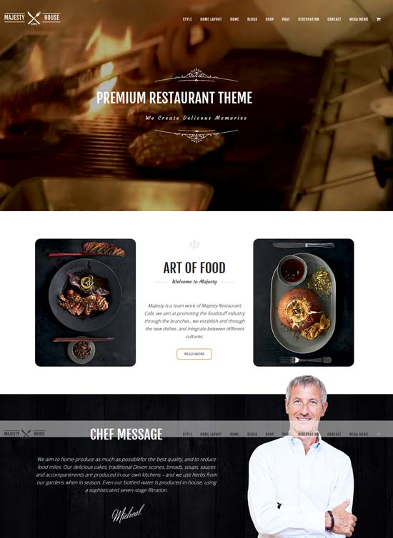 majesty joomla theme