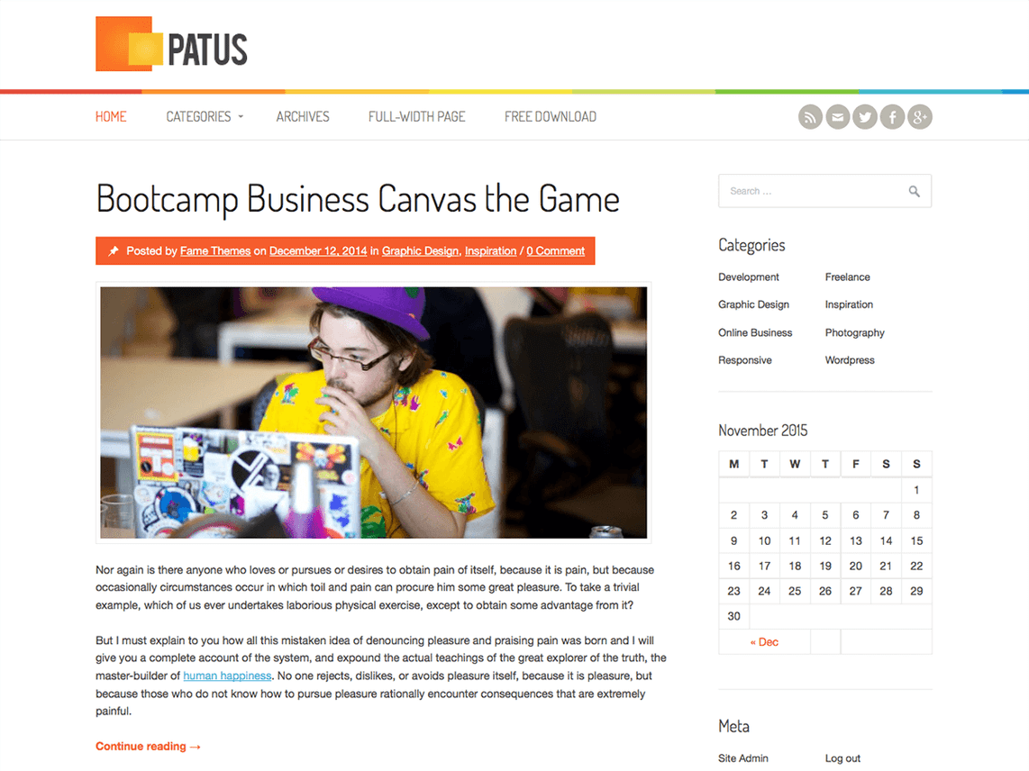 patus wordpress theme