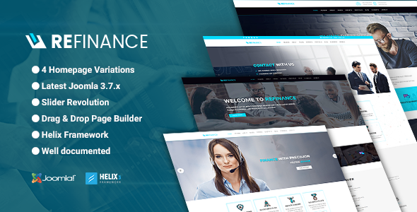 refinance joomla theme