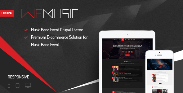 wemusic drupal theme